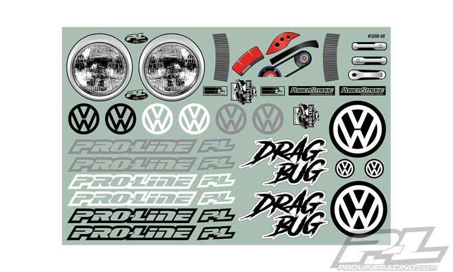 Pro-Line Volkswagen Drag Bug Clear Body
