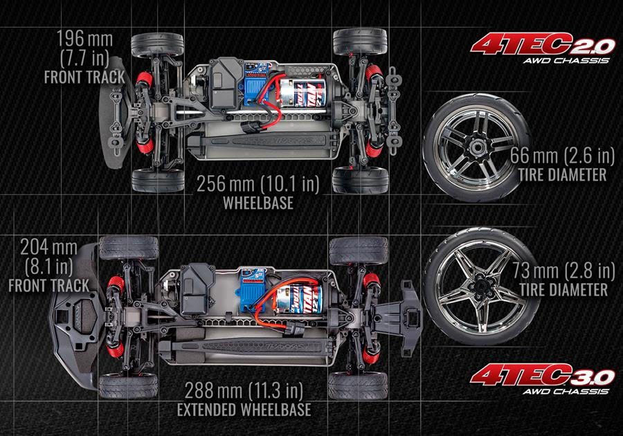 Traxxas 4-Tec 3.0 Chassis With Corvette Stingray Body